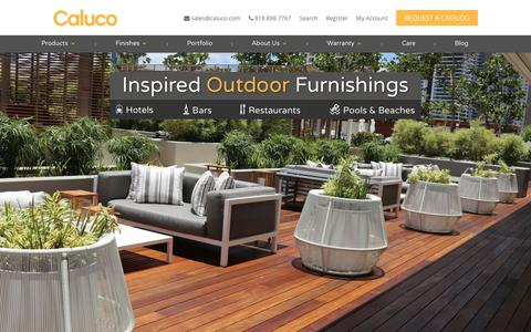 Screenshot of Home Page caluco.com - Hospitality & Commercial Outdoor Furniture Los Angeles | Caluco - captured May 13, 2017