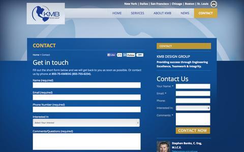 Screenshot of Contact Page kmbdg.com - Contact KMB Design Group : KMB Design Group - captured Oct. 8, 2014