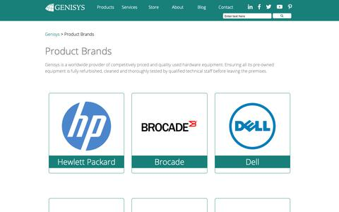 Screenshot of Products Page genisyscorp.com - Product Brands | Genisys - captured Sept. 27, 2018