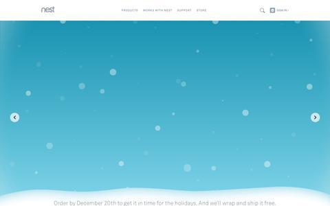 Screenshot of Home Page nest.com - Home | Nest - captured Dec. 1, 2015