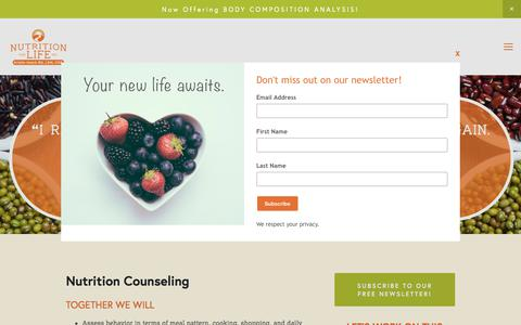 Screenshot of Services Page nutritionforlifeinc.com - Services — Nutrition for Life Inc. - captured June 18, 2017