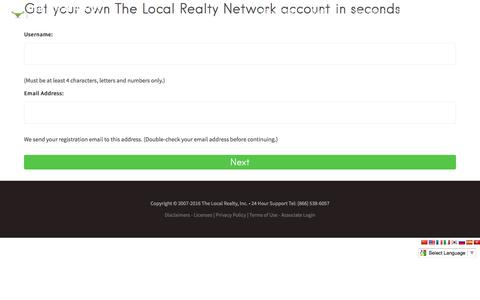 Screenshot of Signup Page thelocalrealty.com - The Local Realty — California Real Estate Brokerage - captured Dec. 1, 2016