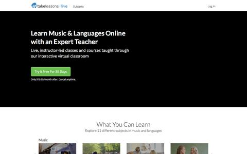TakeLessons Live Online Group Classes & Courses in Music & Language