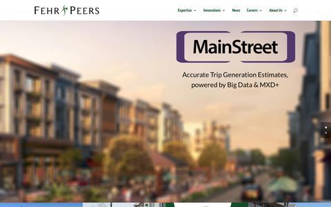 Screenshot of Home Page fehrandpeers.com - Fehr & Peers Transportation Consultants - captured Sept. 8, 2015