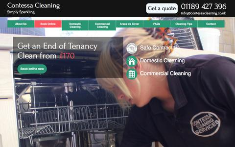 Screenshot of Home Page contessacleaning.co.uk - Contessa Cleaning | Simply Sparkling - captured Sept. 30, 2014