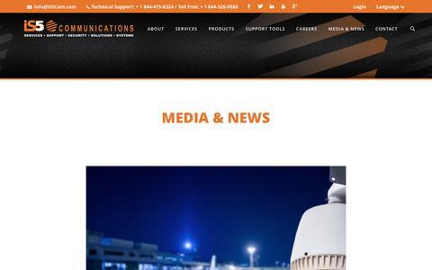 Screenshot of Press Page is5com.com - iS5 Communications » Media & News - captured Nov. 26, 2016