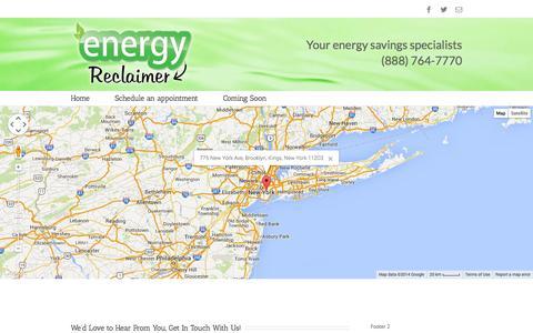 Screenshot of Contact Page energyreclaimer.com - Energy Reclaimer   –  Contact Page - captured Oct. 27, 2014