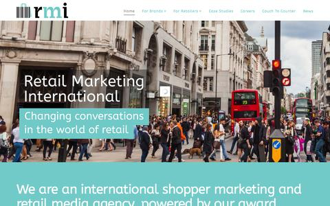 Screenshot of Blog Case Studies Page rmi.co - home - RMI - Retail Marketing International - captured Oct. 25, 2014