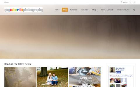 Screenshot of Blog guyaubertin.com - Guy Aubertin Photography | Blog - Guy Aubertin Photography - captured Oct. 3, 2014