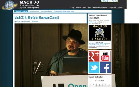 Screenshot of Blog mach30.org - Main - Mach 30 - captured Dec. 20, 2015