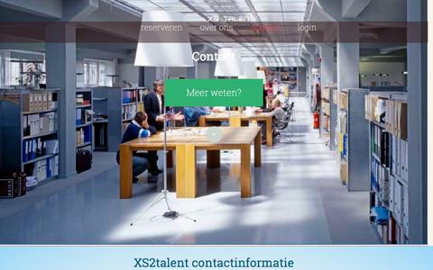 Screenshot of Contact Page xs2talent.nl captured Oct. 29, 2014