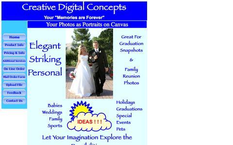 Screenshot of Home Page creativedigitalconcepts.us captured Oct. 3, 2014