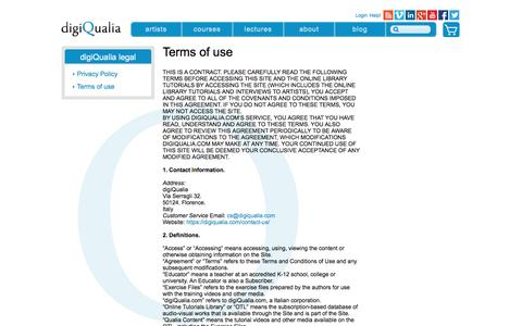 Screenshot of Terms Page digiqualia.com - Terms of use - digiQualia - captured Nov. 24, 2016
