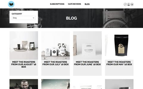 Screenshot of Blog thecoffeevine.com - Blog   by The Coffeevine - captured Aug. 14, 2016