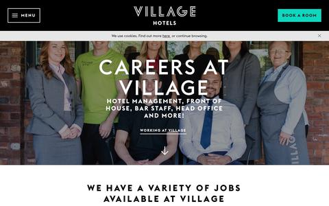 Screenshot of Jobs Page village-hotels.co.uk - Careers at Village Hotels - Join us today! - captured Sept. 24, 2018