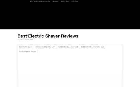 Screenshot of Home Page redbarnme.com - Best Electric Shaver Reviews - captured Oct. 9, 2014