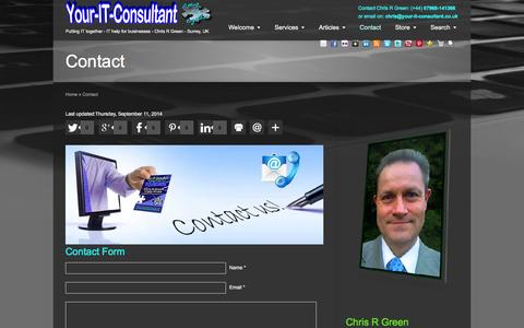 Screenshot of Contact Page your-it-consultant.co.uk - Contact - Your-IT-Consultant - captured March 25, 2016