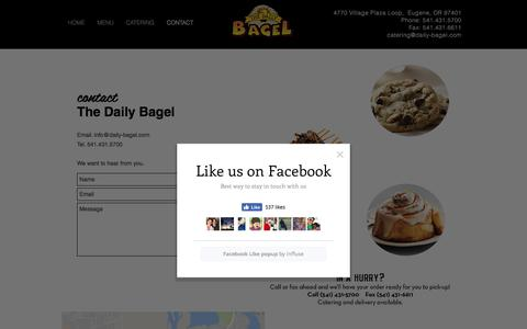 Screenshot of Contact Page daily-bagel.com - Daily Bagel - Bagels Baked Fresh Daily - captured Nov. 9, 2017