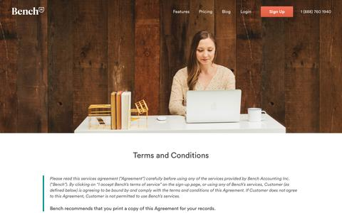 Bench — Terms and Conditions