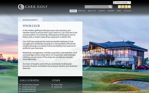 Screenshot of Team Page carrgolf.com - Management - Carr Golf - captured Nov. 10, 2018