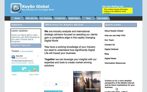 Screenshot of Home Page Site Map Page keysoglobal.com - Home - captured Nov. 27, 2016
