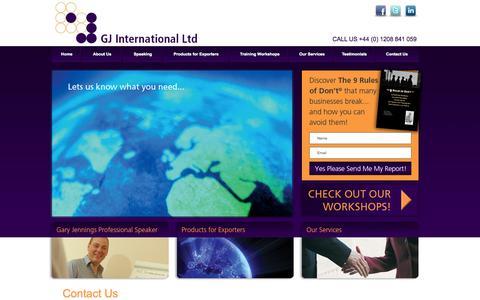 Screenshot of Contact Page gj-intl.com - GJ International Ltd - captured Oct. 1, 2014