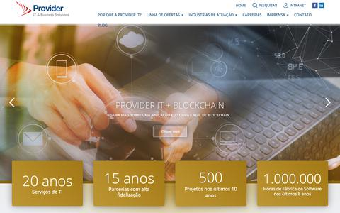 Screenshot of Home Page provider-it.com.br - Provider IT & Business Solutions - captured Nov. 5, 2018
