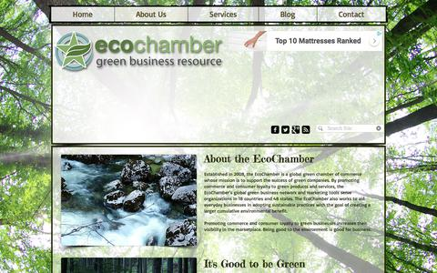 Screenshot of About Page ecochamber.com - About the EcoChamber - captured July 16, 2018