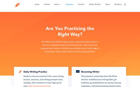 Screenshot of Products Page thewritepractice.com - The Write Practice: Writing Programs - The Write Practice - captured Nov. 11, 2018