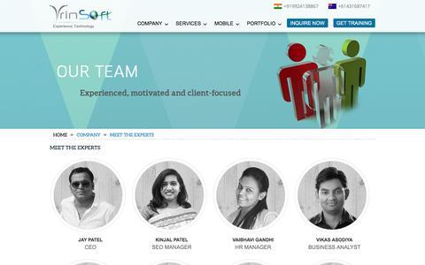Screenshot of Team Page vrinsofts.com - Our Team | Vrinsofts.com - captured Jan. 19, 2016