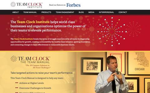 Screenshot of Home Page teamclock.com - Home - Team Clock Institute - captured Feb. 22, 2016