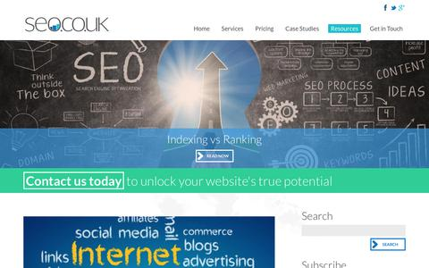 Screenshot of Blog seo.co.uk - SEO Blog -SEO.co.uk - captured Sept. 22, 2018