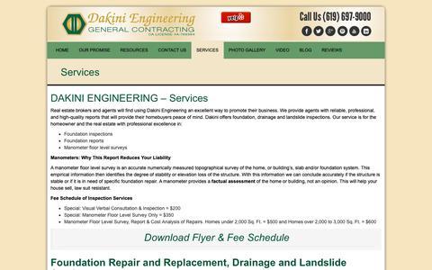 Screenshot of Services Page dakiniengineering.com - Services - Dakini EngineeringDakini Engineering - captured Oct. 7, 2018