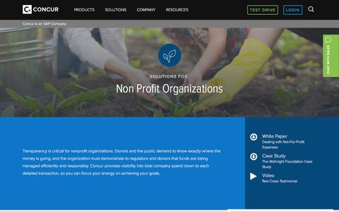 Concur's Solutions for Non Profit Organizations - Concur