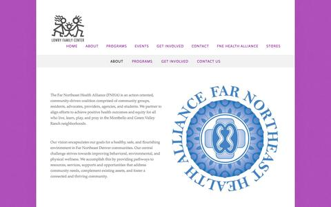 Screenshot of About Page lowryfamilycenter.org - About — Lowry Family Center - captured Sept. 30, 2014
