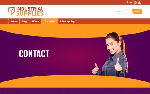 Screenshot of Contact Page impactindustrialsupplies.com - Contact Us - captured Nov. 6, 2018