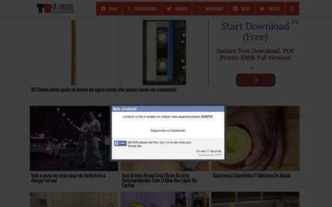 Screenshot of Home Page tabrutal.pt - Tá Brutal - Os melhores vídeos da Internet - captured Nov. 18, 2015