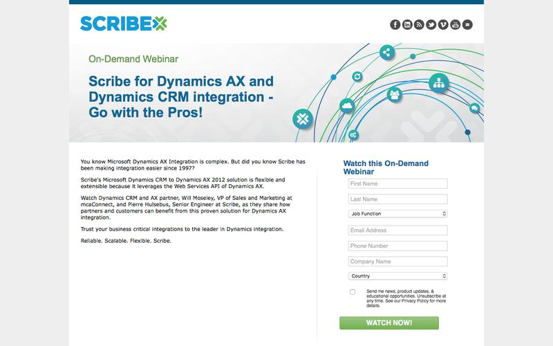 Scribe for Dynamics AX and Dynamics CRM integration - Go with the Pros! On-Demand Webinar