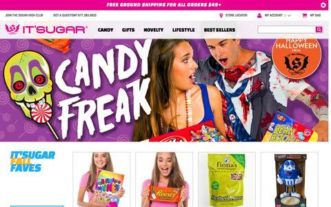 Screenshot of Home Page itsugar.com - IT'SUGAR Candy Store - captured Oct. 1, 2015