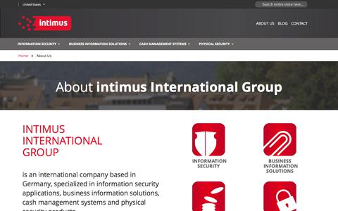 Screenshot of About Page intimus.com - About Us - captured Jan. 9, 2018
