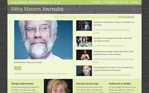 Screenshot of Home Page dittyeimers.nl - Ditty Eimers | Journalist - captured Oct. 12, 2017