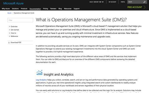 Screenshot of microsoft.com - Azure Operations Management Suite (OMS) Documentation - Tutorials | Microsoft Docs - captured April 3, 2017
