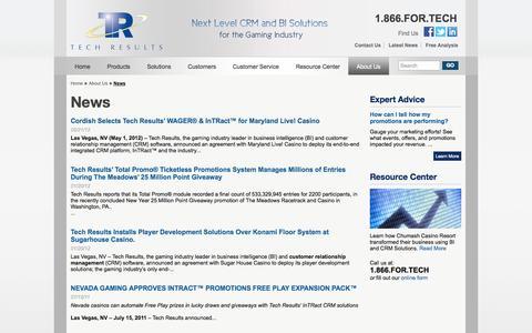 Screenshot of Press Page techresults.com - News   Tech Results - captured Oct. 7, 2014