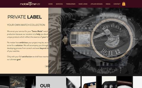 Screenshot of Services Page nobletime.com - Nobletime Ltd. | Private Label Watches | Zurich - captured Oct. 18, 2018
