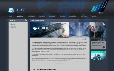 Screenshot of About Page gtt.fr - About us | GTT - captured Oct. 22, 2014