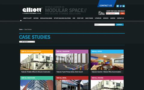 Screenshot of Case Studies Page elliottuk.com - Case Studies | Elliott - captured Sept. 22, 2014