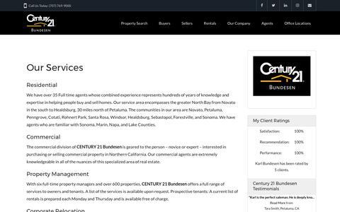 Screenshot of Services Page bundesen.com - Services | Century 21 Bundesen - captured July 22, 2017