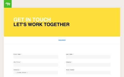 Screenshot of frogdesign.com - New Business | frog - captured Aug. 24, 2016