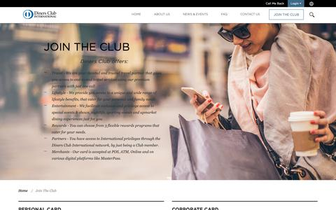 Screenshot of Signup Page dinersclub.co.za - Diners Club | Join - captured Oct. 9, 2018