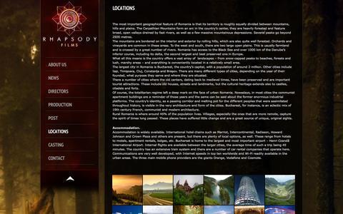 Screenshot of Locations Page rhapsodyfilms.eu - Rhapsody Films - captured Oct. 9, 2014
